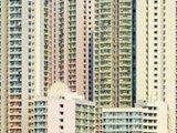 香港居民楼层层叠叠如抽象艺术画