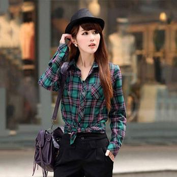 女装格子衬衫长袖_女装衬衫长袖新款 v118.com