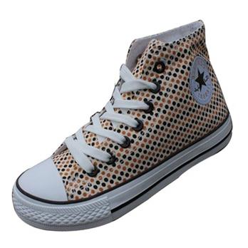 新春新款高邦帮帆布鞋鞋休闲女鞋子帆布高邦潮流帆布