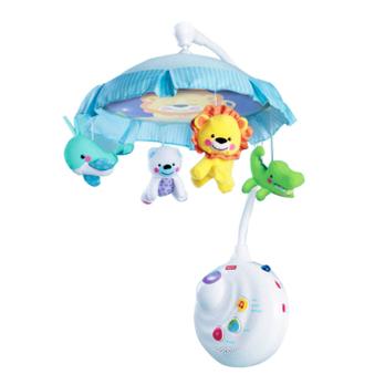 爱动物两用声光音乐床铃 带幻灯投影旋转可遥控新生儿玩具
