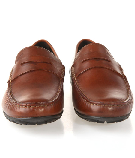 geox健乐士 棕色牛皮男士休闲鞋