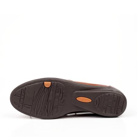 bata/拔佳秋棕色油蜡羊皮女鞋