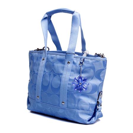 coach(蔻驰)蓝色帆布两用包