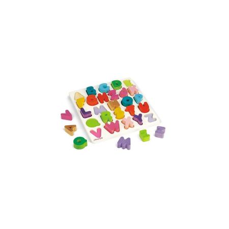 janod 法国木制玩具 快乐智力字母拼图 oj05566高清图片