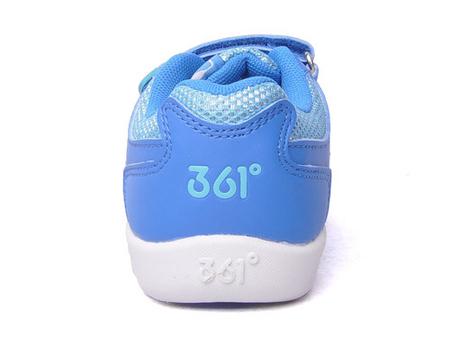 361°童鞋女童魔术贴网面/编织防滑透气运动鞋