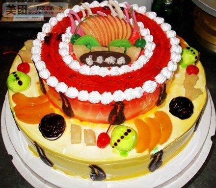 济宁双层欧式水果巧克力蛋糕1个