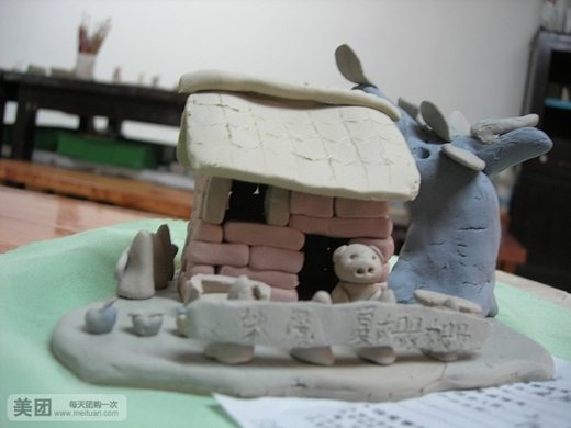 手捏陶泥作品图片
