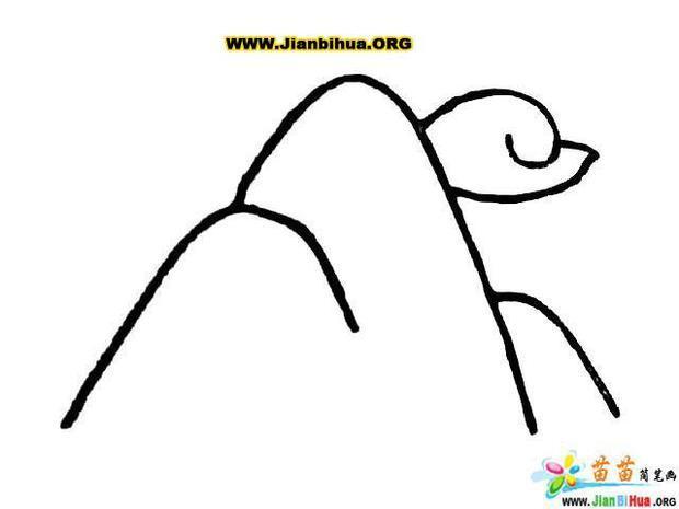 大山怎么画