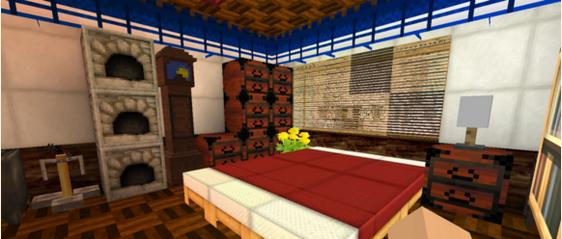 我的世界 生存打造的小别墅