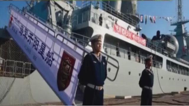 《军情解码》20170116中国海军新舰入役