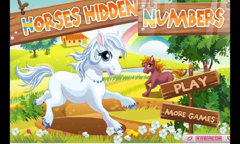 安卓市场 游戏 休闲益智 小马找数字  游戏背景图片是两只可爱的小马.