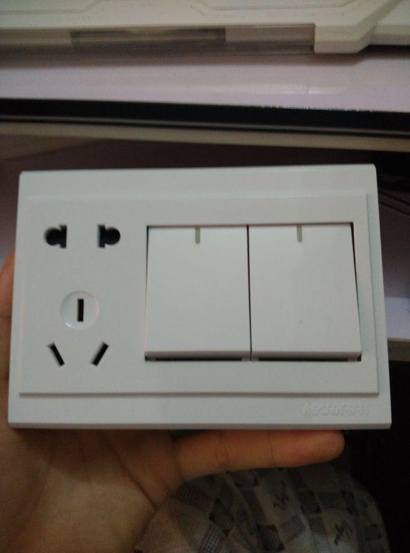 五孔双开关插座接线图