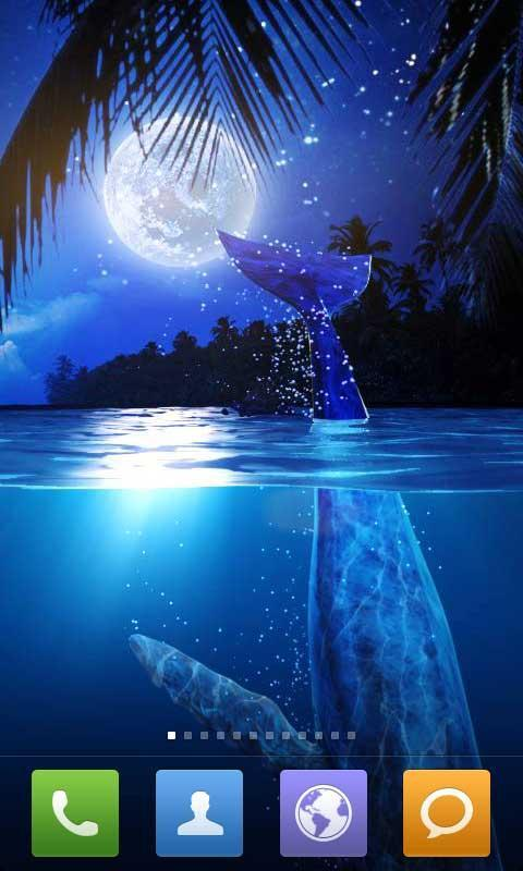 月光蓝色的大海.