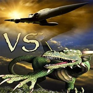 小龙的碰撞 - 对龙现代战斗机的攻击