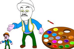 涂鸦板画美术_美术活动涂鸦板_潘老师