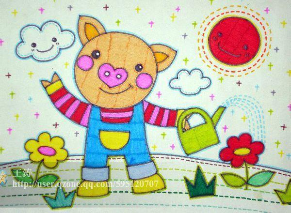 儿童画小猪【相关词_ 儿童简笔画小猪】