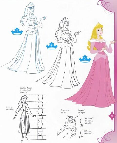 公主和王子怎么画