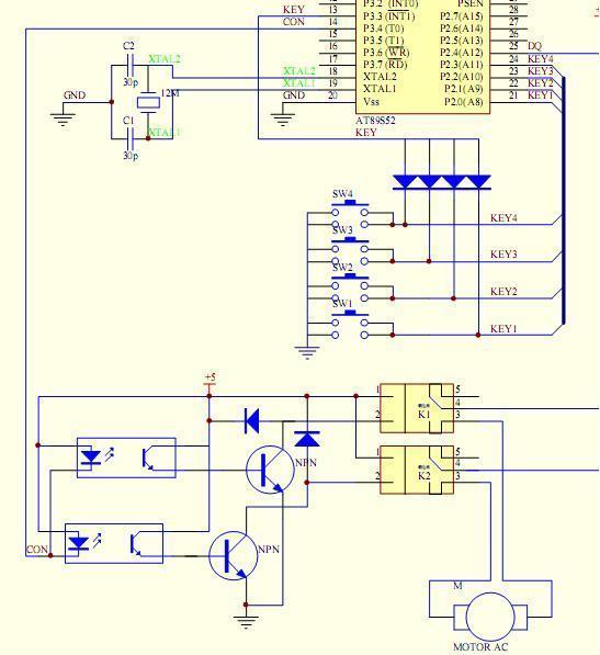 51单片机 如何4*4矩阵键盘输入按键 继电器输出信号