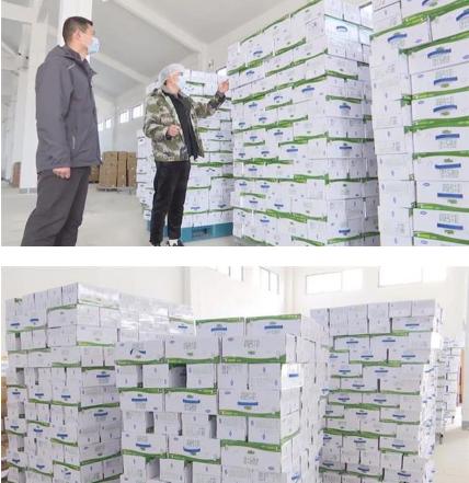 """黑龙江""""老铁""""又向汉川赠送11000箱高钙牛奶"""