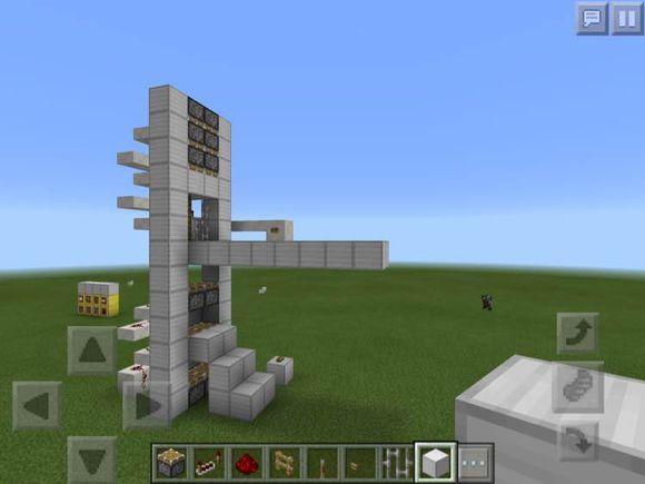红石电梯制作完成