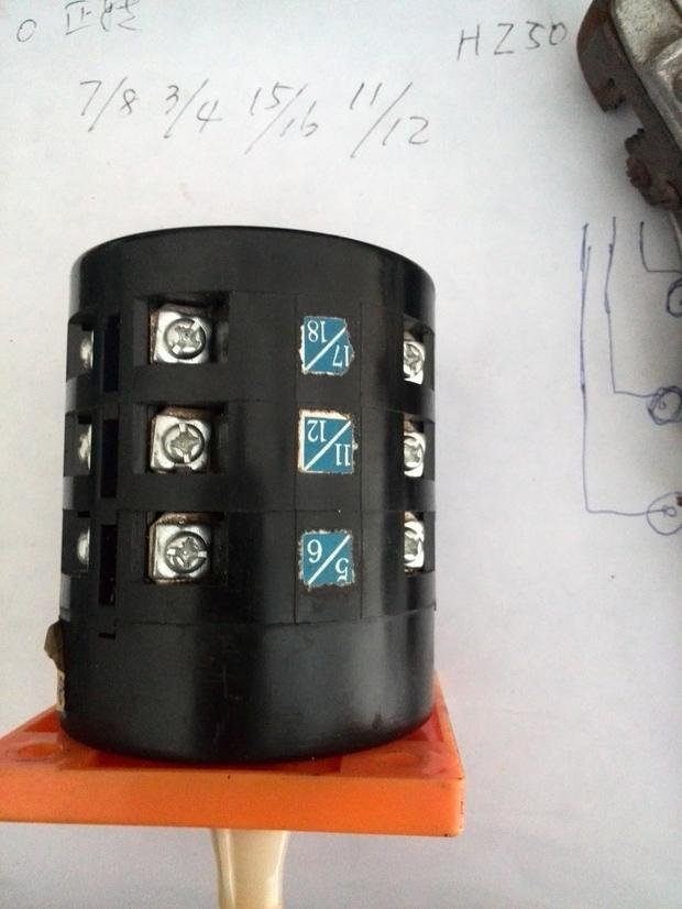 交流电动机用组合开关正泰lw6-3实现正反转求接线