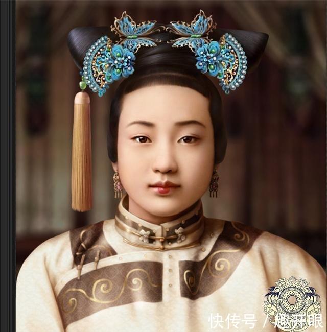 女人下面样子真实图片-老照片再现清朝公主,皇后妃嫔真实样子图片