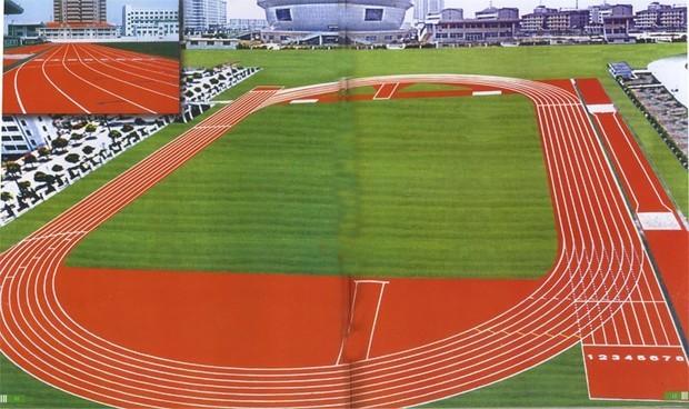 关于400米跑道的画法