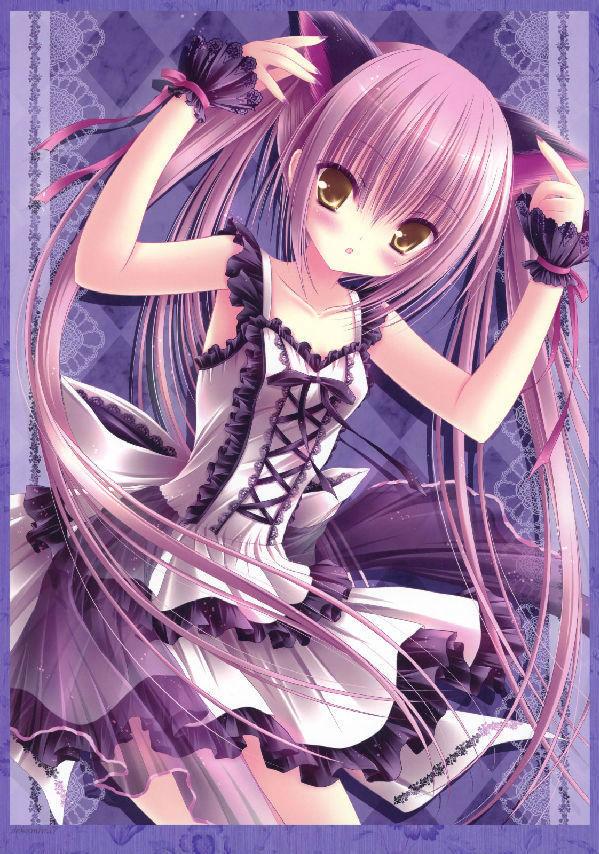 求紫色头发的动漫人物图片