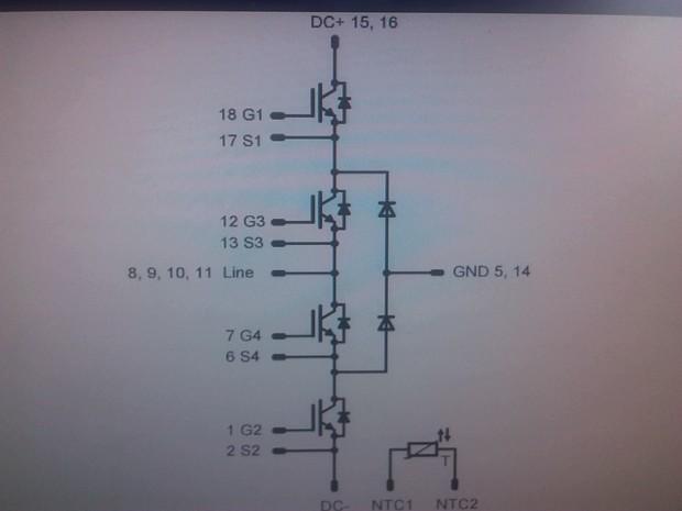 赛米控igbt模块驱动发射极引脚可以接主电路