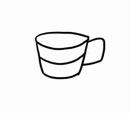 跟我一起画 简笔画 第32期 五颜六色的水杯
