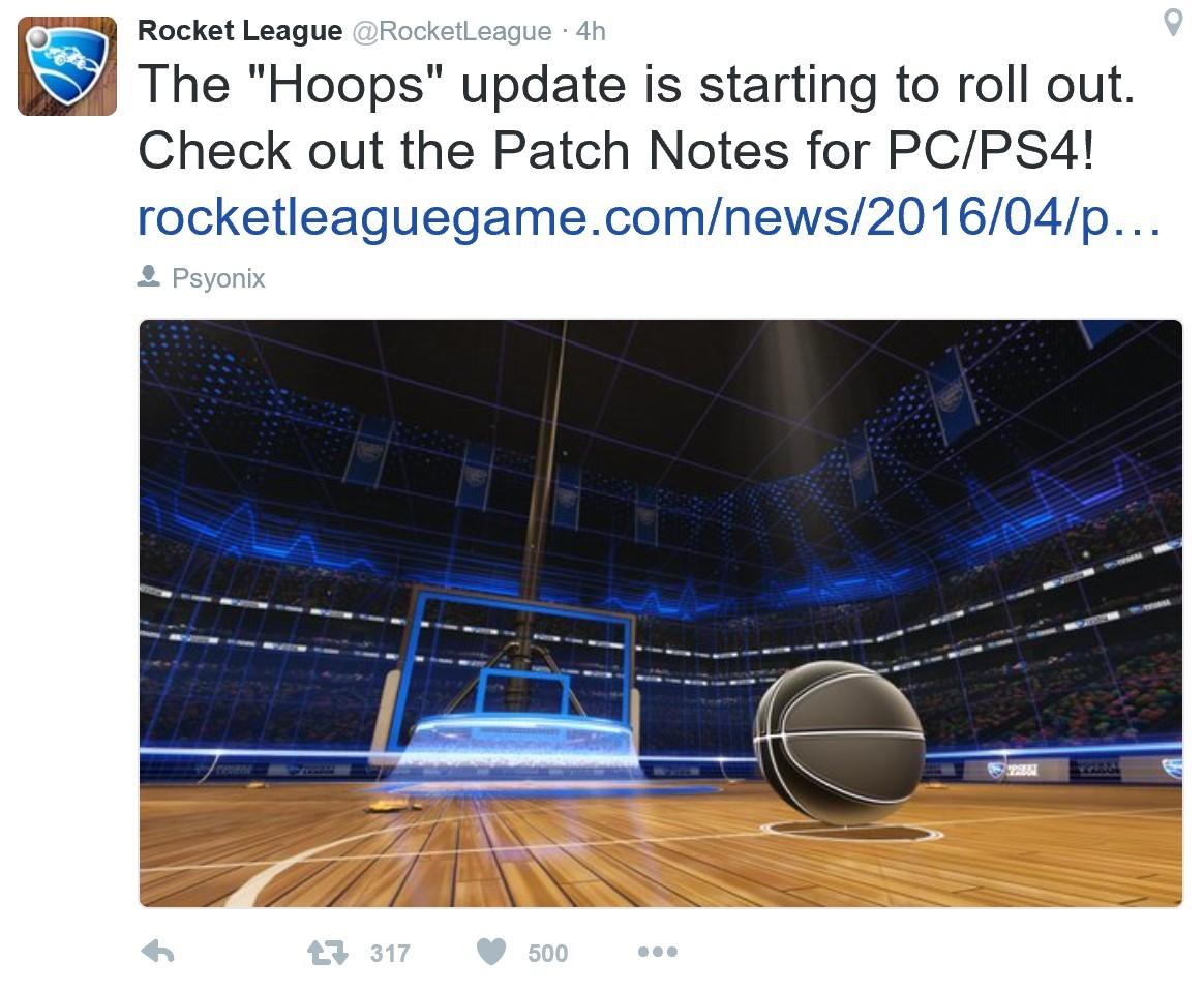 """火箭联盟上线""""篮球模式"""""""