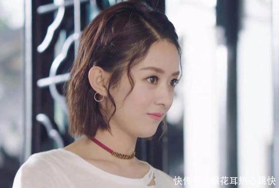 赵丽颖烫小卷毛,减龄10岁不止,气质般少女发型2017女神最新短发男图片