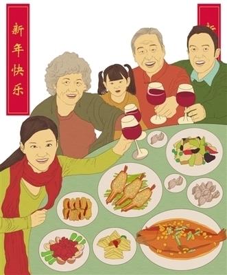 年夜饭的图片怎么画
