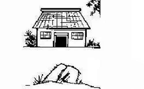 住宅前忌有石敢当对门或有大石在屋前,主不利复式,石敢当或大石偏右图片装修房小孩图片