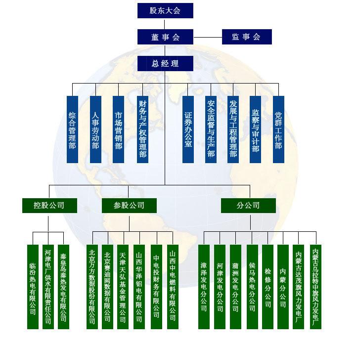 漳泽电力的组织结构图