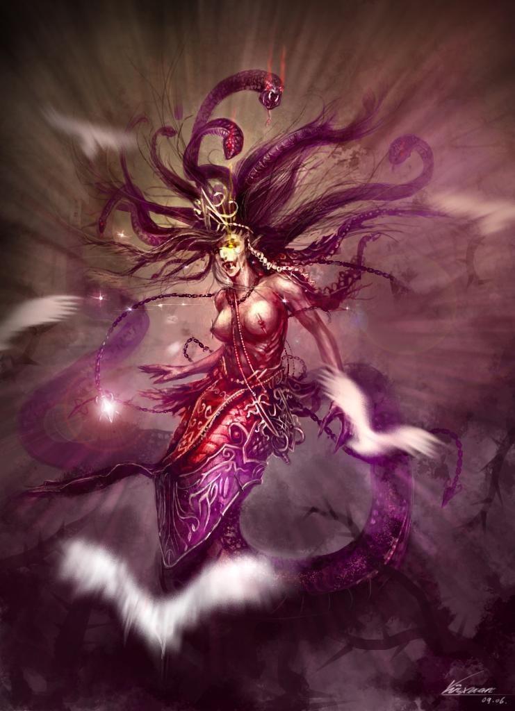 这是你心中的美杜莎吗 游戏中的蛇发女妖哪个更美