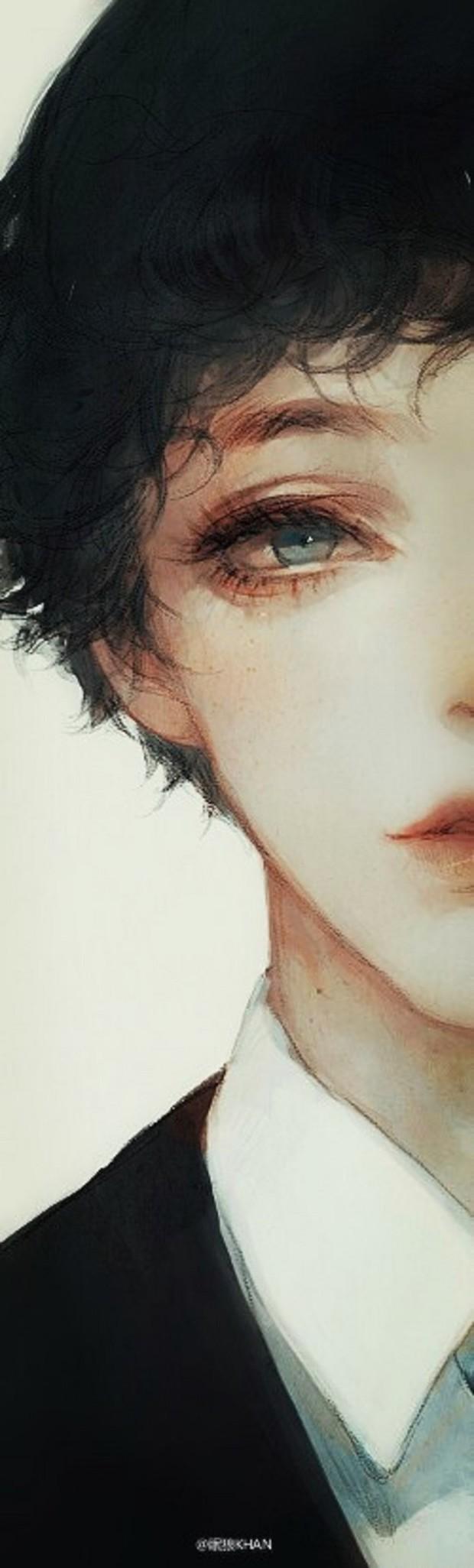 求动漫男生头像,那种在笑,眼睛含着泪水或者边哭边笑的