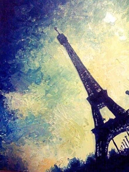 谁有埃菲尔铁塔的手绘图?