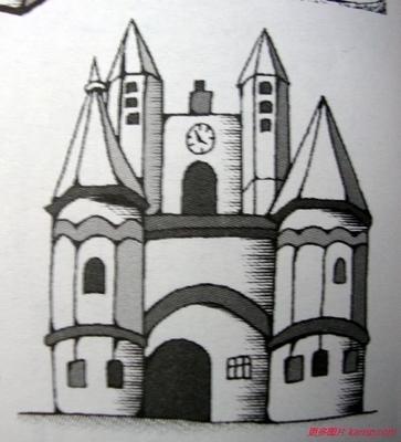 卡通城堡简笔画大全卡通城堡怎么画,迪士尼城堡卡通画