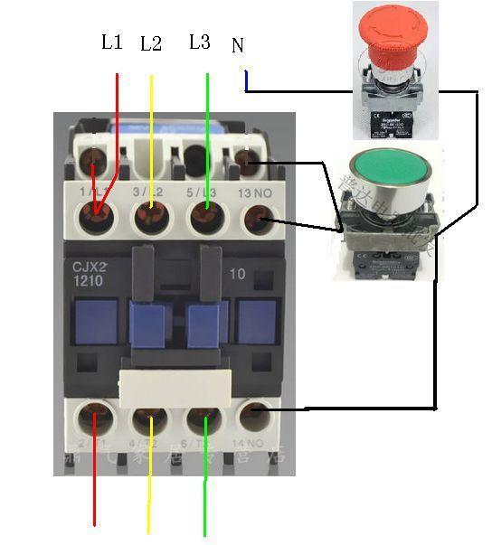 天正电气cjx2系列交流接触器接线图