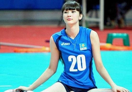 哈萨克斯坦排球美女运动员