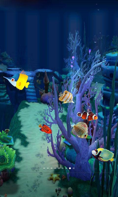 手机海底养鱼动态壁纸