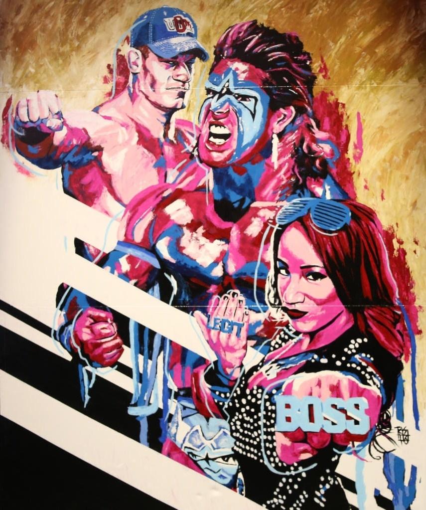 《WWE 2K17》彩绘海报