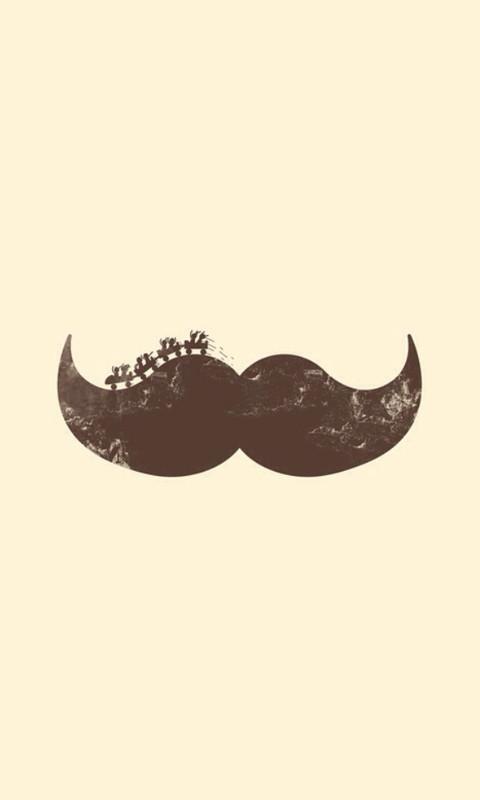 可爱创意的小胡子动态壁纸(来自:)