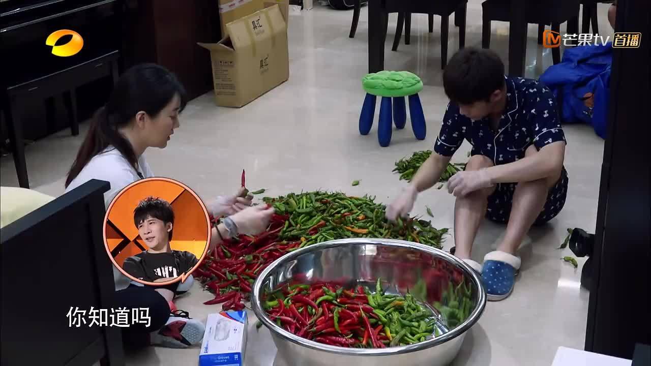 洗100斤辣椒!欣然是在坑武艺?