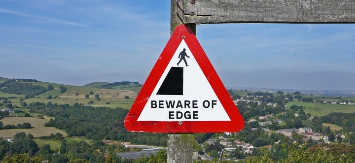 beware of cliff