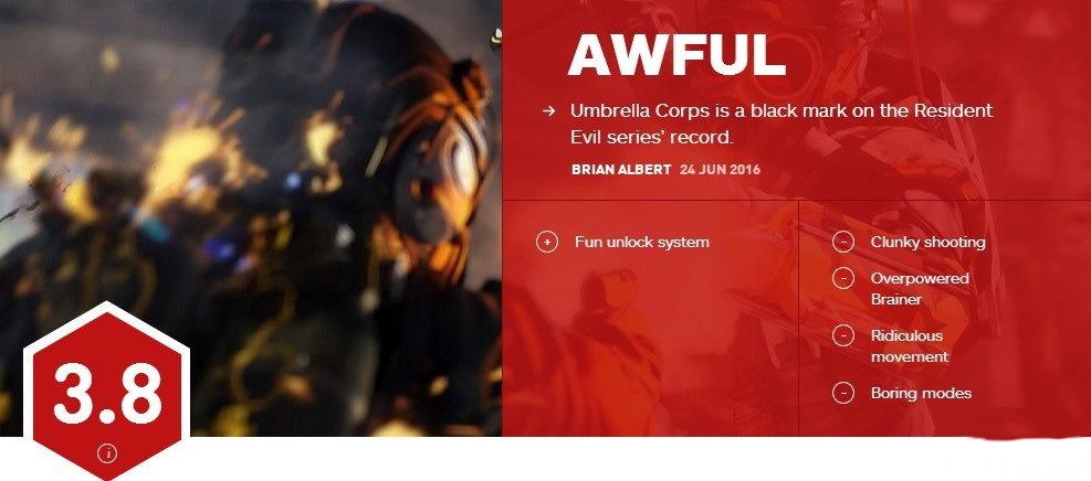 生化危机保护伞小队IGN评分