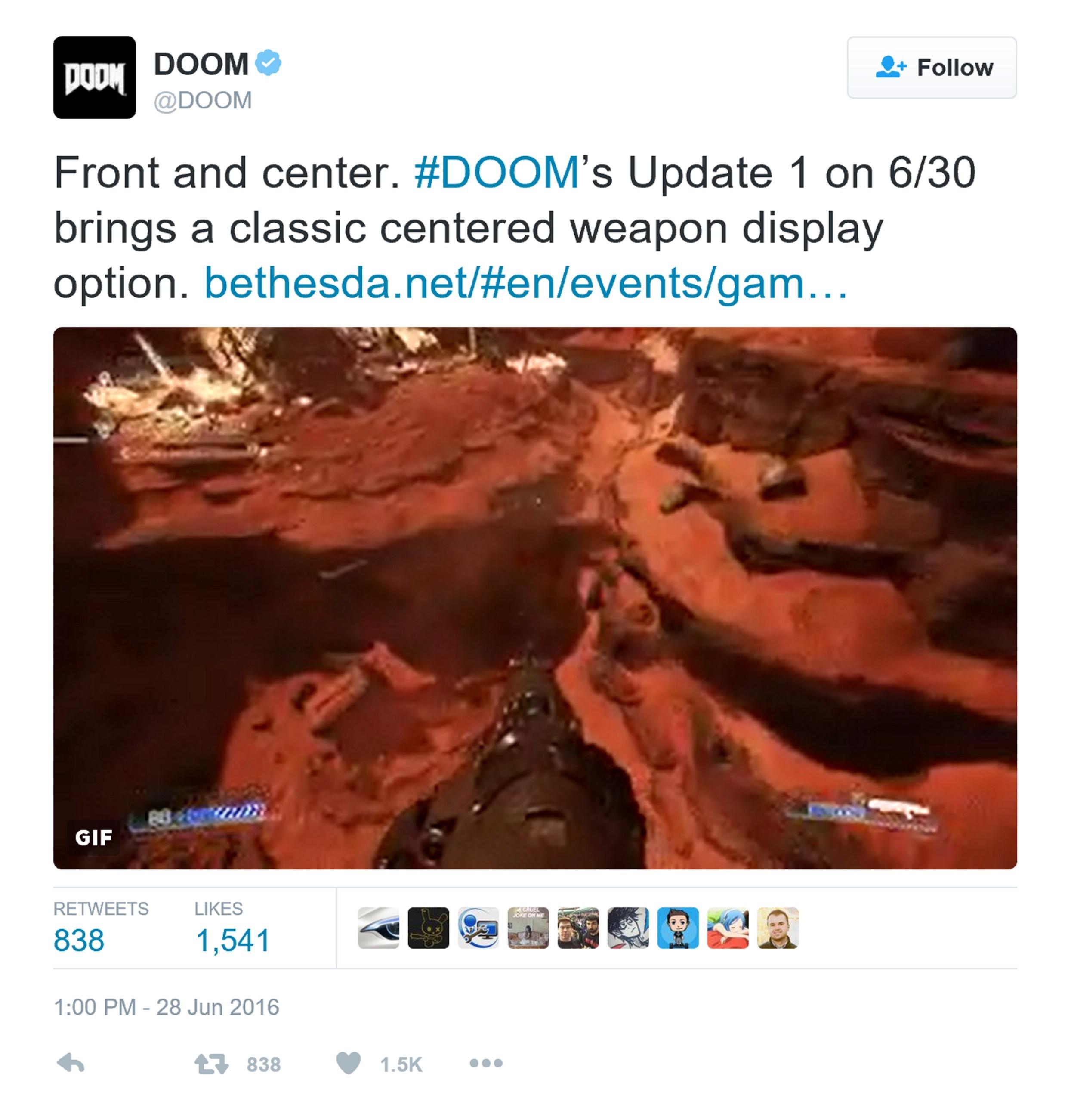 《毁灭战士4》首次重大更新