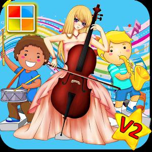 4mb 小编推荐: [v2版] 这是一个互动游戏图卡, 帮助小朋友认识乐器