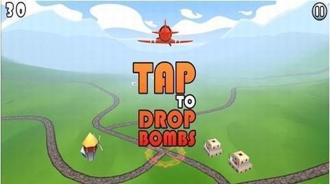 《玩具轰炸机 toy bomber》是一款飞行游戏,通过重力感应控制飞机飞行